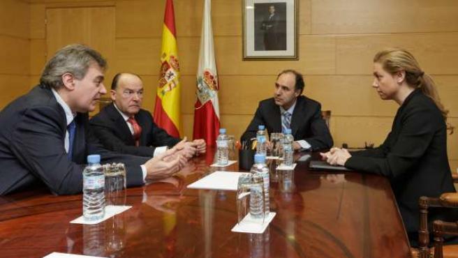 Reunión de Diego y Mazas con representantes de SOGARCA