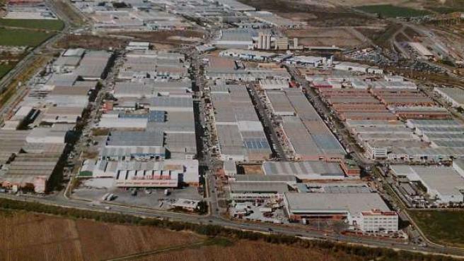 Vista aérea del polígono industrial Guadalhorce Málaga capital
