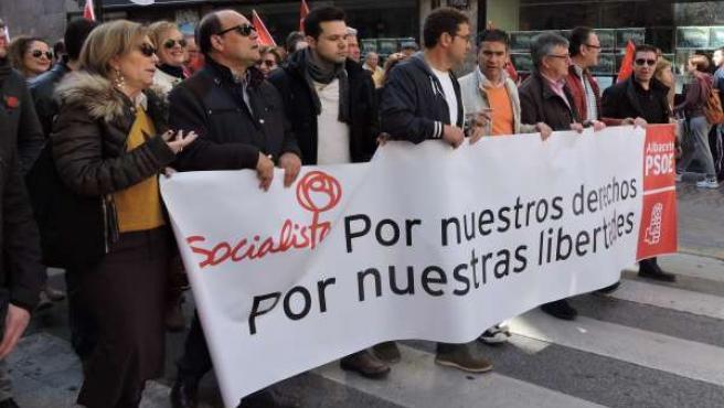 González Ramos en manifestación