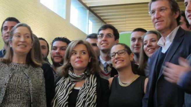 La vicepresidenta del Gobierno, Soraya Saén de Santamaría en el acto del PPdeG