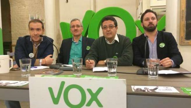 Dirigentes de VOX este domingo en Sevilla
