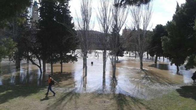 Crecida del Ebro.
