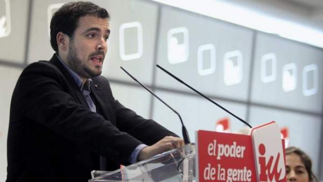 El próximo candidato de Izquierda Unida a las elecciones generales, Alberto Garzón, interviene ante el Consejo Político de IU.