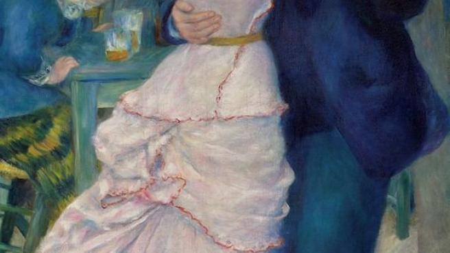 Óleo de Renoir de la serie 'Bailes', que se exhibe al completo en la Galería Nacional de Londres en la exposición 'Inventing Impressionism'