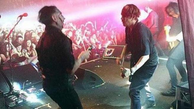 Marilyn Manson, actuando en Australia junto a Johnny Depp.