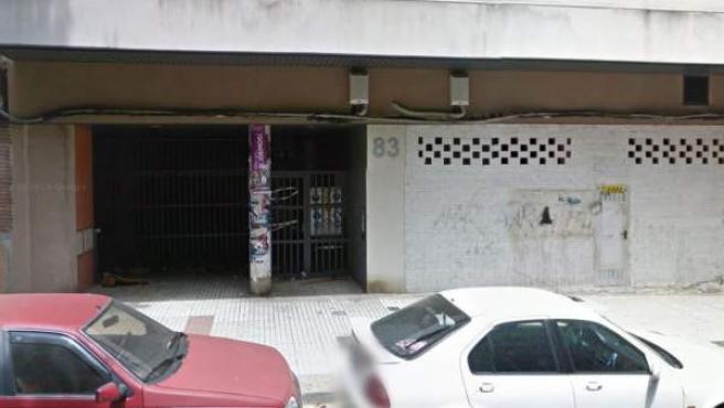 Calle Compromiso de Caspe en Zaragoza, a la altura del número 83.