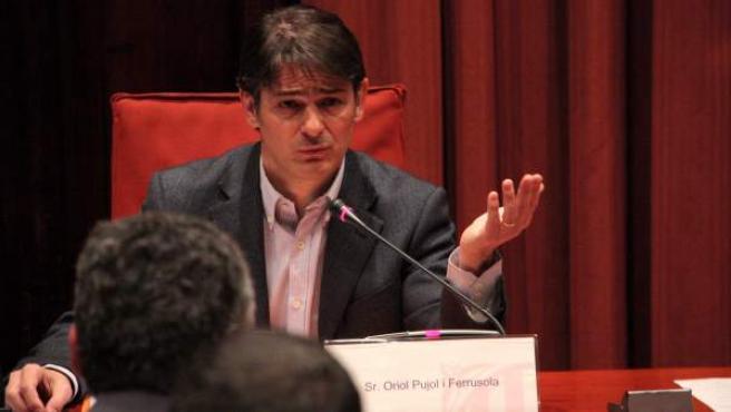 El exdiputado de CiU Oriol Pujol interviene en la comisión parlamentaria de investigación.