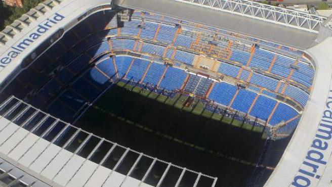 Vista aérea de una de las instalaciones deportivas más emblemáticas de Madrid.