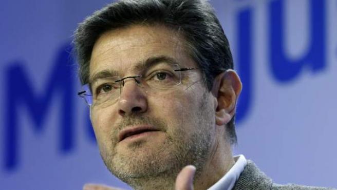 El ministro de Justicia, Rafael Catalá, en su intervención en el 'Foro Más Justicia, Mejor Sociedad'.