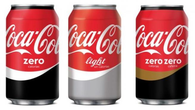 Nueva imagen unificada de las diferentes marcas de Coca-Cola.