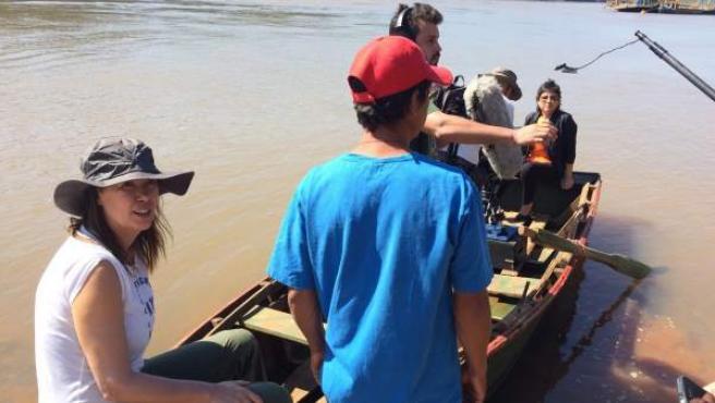 Mabel en el rodaje de 'Proyecto Chicas Nuevas 24horas' en Paraguay.