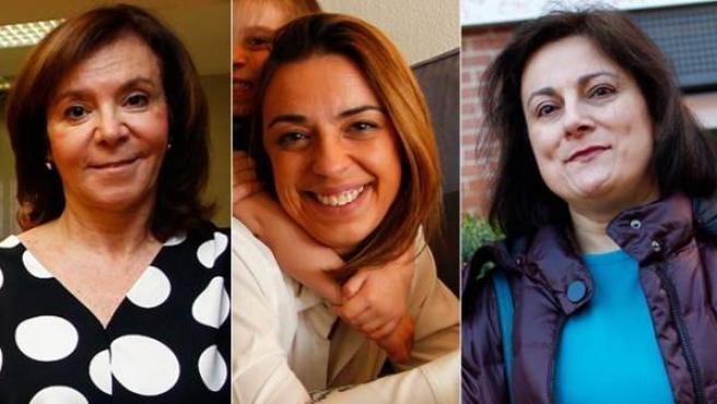 Ana, Paula y Consuelo dan su testimonio como mujeres trabajadoras.