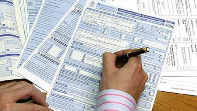 Formulario de la declaración de la renta.