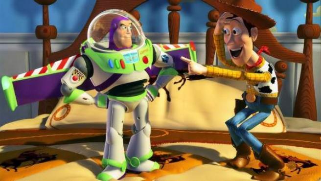 Buzz y Woody en una escena de 'Toy Story'.