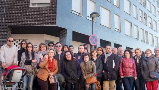 Algunos de los socios afectados por la quiebra de la cooperativa Madrid Progreso de Arganda del Rey.