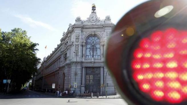 Fachada del Banco de España, en la plaza de Cibeles de Madrid.
