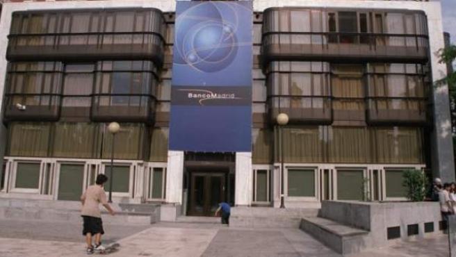 Sede central de Banco de Madrid.