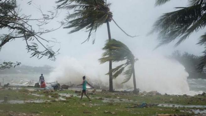 Imagen hecha pública por Unicef de los efectos del ciclón tropical Pam en Port Vila, Vanuatu.