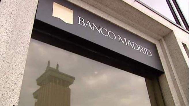 Imagen de una oficina de Banco Madrid.