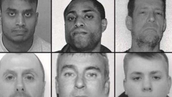 La foto difundida por las autoridades de los diez fugitivos.