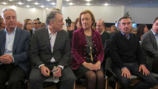 Rudi en el acto sobre Estrategia Aragón 2025.