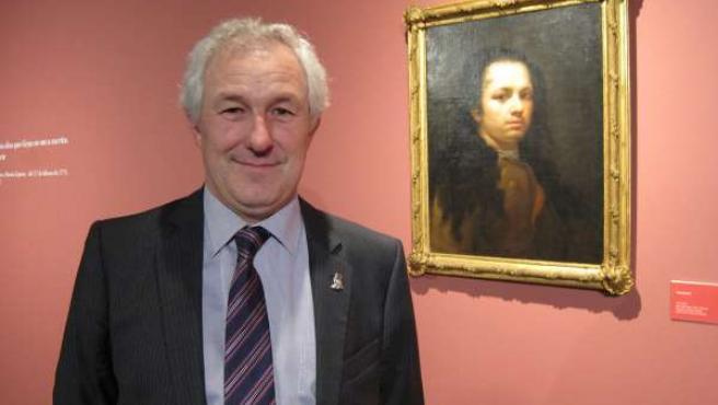 El alcalde de Fuendetodos, junto al Autorretrato de Francisco de Goya