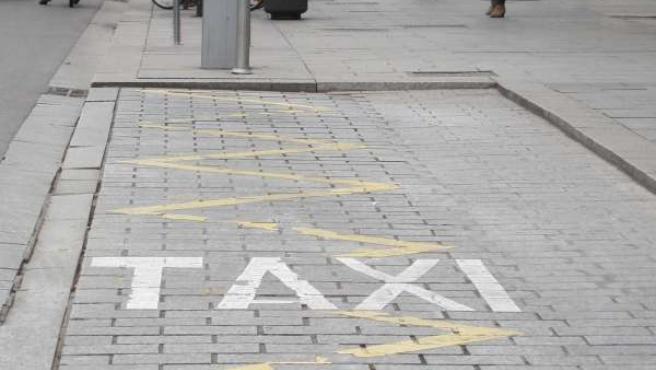 Parada de taxis en Zaragoza