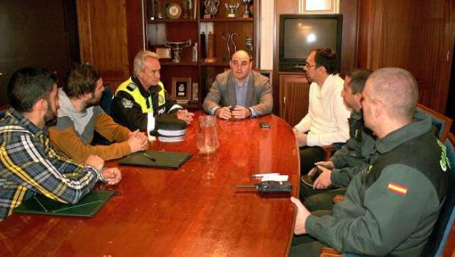 Reunión en el Auntamiento de Alcañiz