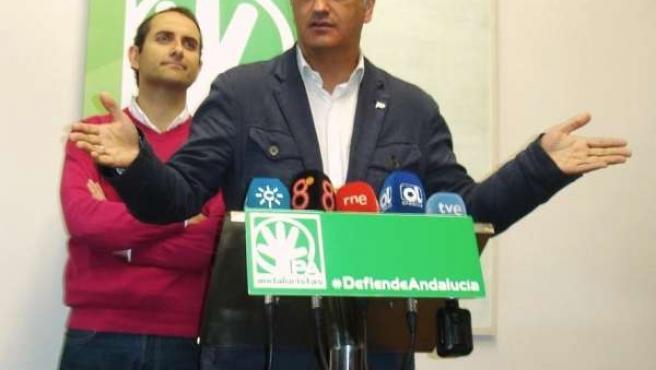 Ruiz en rueda de prensa este martes en Cádiz