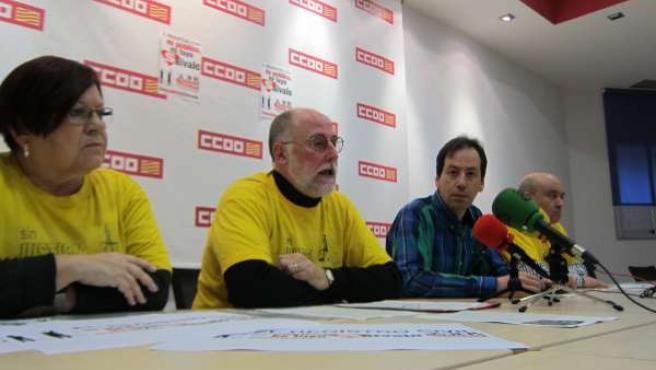 Rueda de prensa del responsable de FSP de CC.OO., Enrique Gracia
