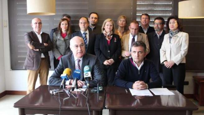 Soler y Suárez en la rueda de prensa de este martes