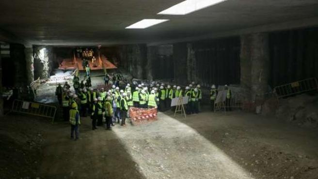 Junta realiza pruebas de iluminación de los restos de la Estación Alcázar Genil