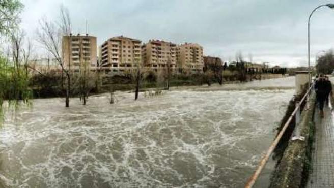 Imagen del río Guadalope a su paso por Alcañiz.