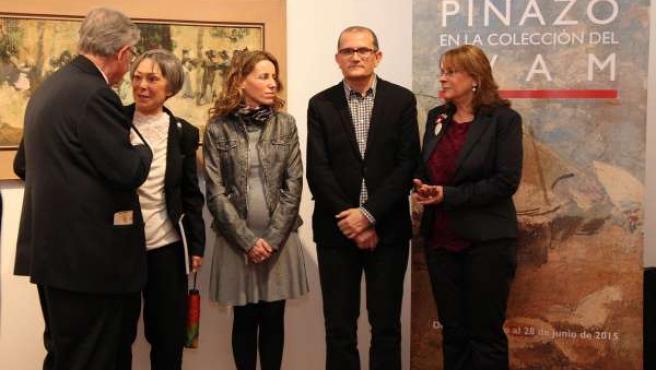 Los responsables del MUBAG en la presentación de la muestra sobre Pinazo