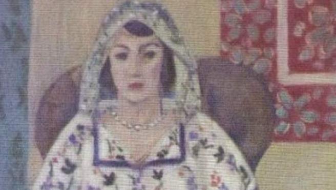 Fragmento de 'Mujer sentada' de Henri Matisse.
