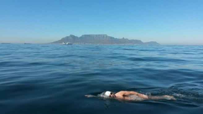 El nadador gerundense especialista en largas distancias Miquel Sunyer, en acción.