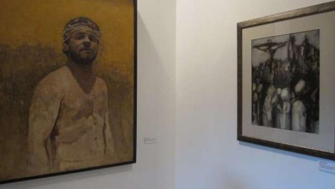 Dos obras de la exposición 'La Tertulia Cofrade Pasión y sus artistas'