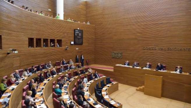 Último pleno de las Corts de la legislatura.