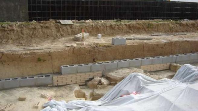 Restos megalíticos hallados en Valencina.