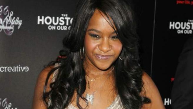 Bobbi Kristina Brown, hija de la fallecida Whitney Houston, en un preestreno en Nueva York en 2012.