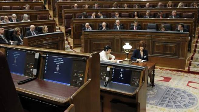 Vista del hemiciclo durante la segunda jornada del debate del estado de la nación, el último de la legislatura.
