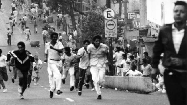 Los disturbios comenzaron en el barrio de Catia, en la periferia de Caracas
