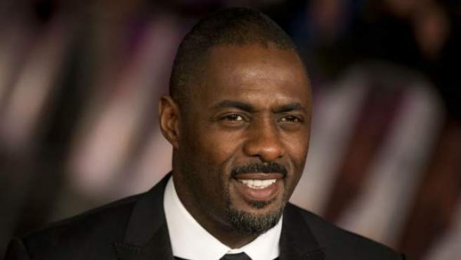 El actor Idris Elba, en la presentación en Londres de 'Mandela: del mito al hombre'.