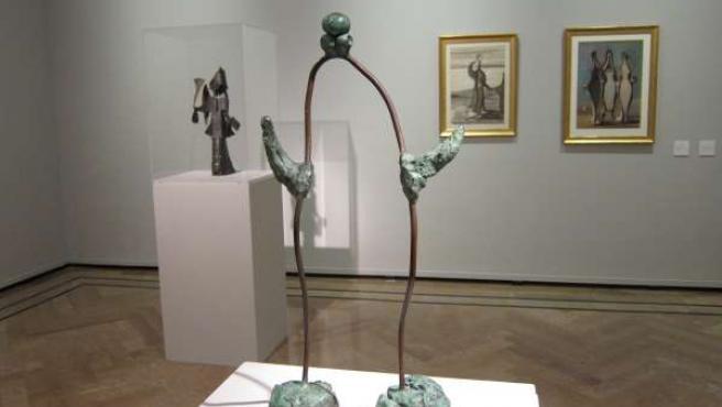 La obra 'Femme' de Joan Miró, en la muestra 'Dibujar el espacio' en la DPZ