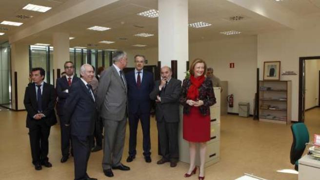 Rudi ha visitado la nueva oficina delegada de la DGA en Calatayud