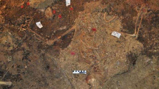 Uno de los depósitos arqueológicos inevstigados.