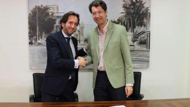 Firma del convenio del contrato de gestión televisión autonómica