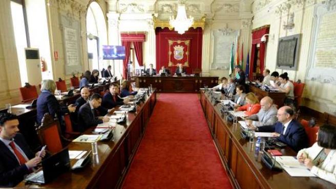 Pleno del Ayuntamiento de Málaga de marzo 2015