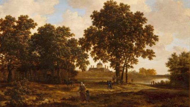 'El Bosque de La Haya con vistas del Palacio Huis ten Bosch', del pintor holandés Joris van der Haagen.