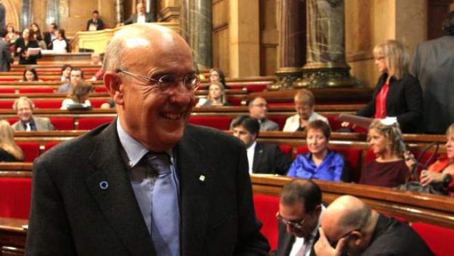 El consejero de Salud catalán, Boi Ruiz, en el Parlament.